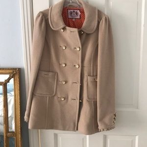 Wool and Angora Juicy Couture Camel Peacoat